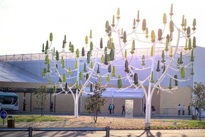 Ветряные деревья получают электричество даже при слабом ветре (видео)