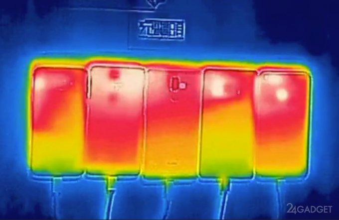 У флагманов 2016 сравнили температуру во время зарядки (3 фото)