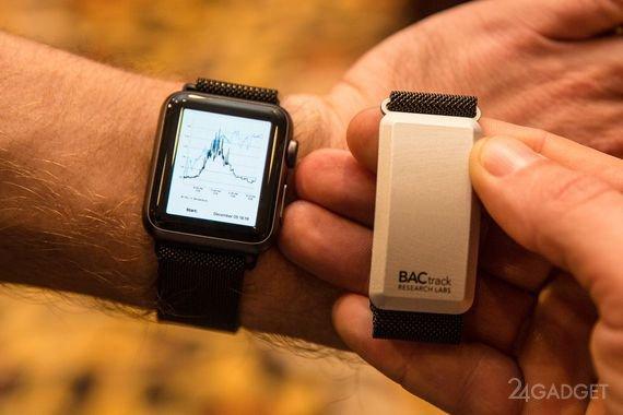 Ремешок для Apple Watch определяет уровень алкоголя в крови (3 фото + видео)