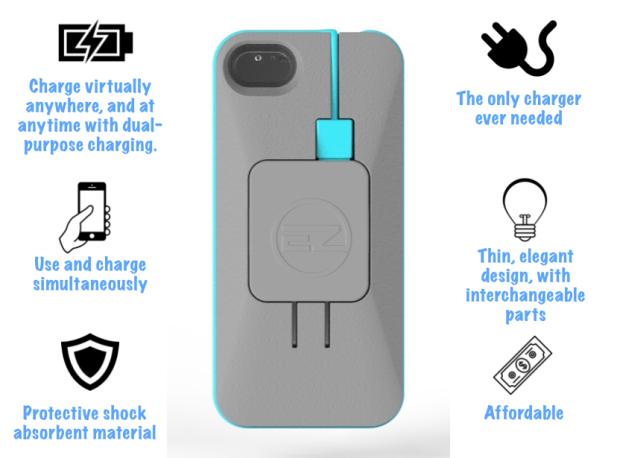 EZ Charge - зарядный кабель, который всегда под рукой (9 фото + видео)