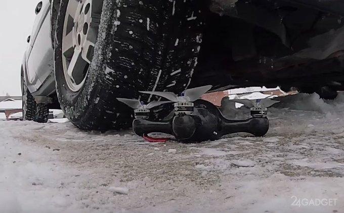 Российскому дрону не страшны столкновения, лужи и колеса авто (12 фото + 2 видео)