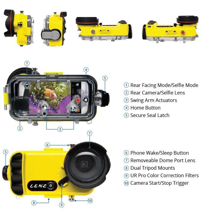 LenzO превращает iPhone 7 и 7 Plus в экшн-камеру для подводной съемки (6 фото + видео)