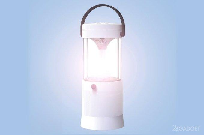 Лампа-фонарь Mizusion работает на соли и воде (4 фото)