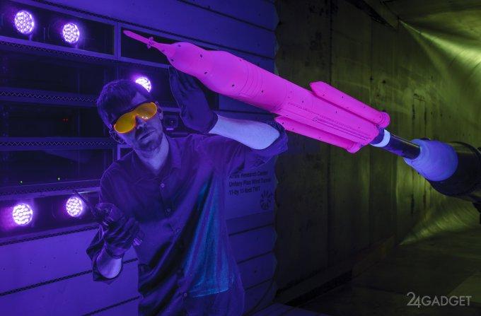 Специальная краска помогает NASA тестировать ракеты (видео)