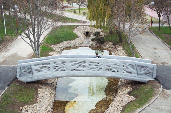 Первый в мире 3D-печатный мост открыт для пешеходов (4 фото + видео)