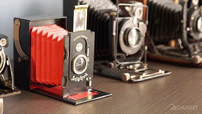 Картонная фотокамера в ретро-дизайне (11 фото + видео)