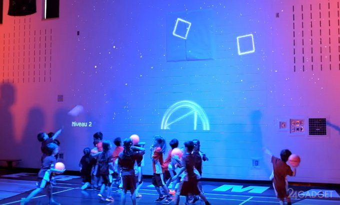 Интерактивный урок физкультуры в Канаде (видео)