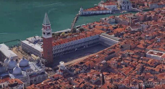 Кругосветное путешествие из 3300 скриншотов карт Google (видео)