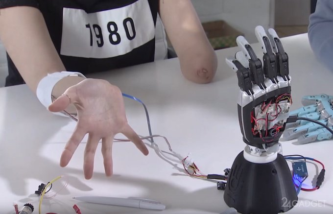 Российский инженер разработал бионическую руку-протез (видео)