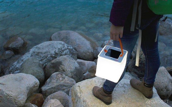 Надувной фонарь с солнечной батарей и зарядкой для гаджетов (19 фото + видео)