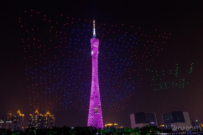 Китайцы побили рекорд Intel по количеству участвующих в шоу дронов (11 фото + видео)