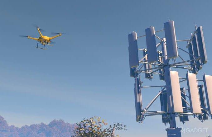 Для продления времени полетов дронов Huawei задействует сотовые вышки