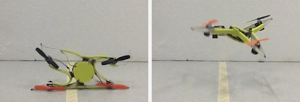 Самовосстанавливающийся дрон не боится столкновений о препятствия (3 фото + видео)
