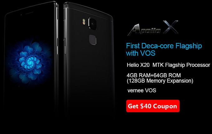 Зарезервируй Vernee Apollo X с Helio X20, 4GB RAM : возьмите купон на сумму в $40 и получите бесплатный смартфон до предпродажи!