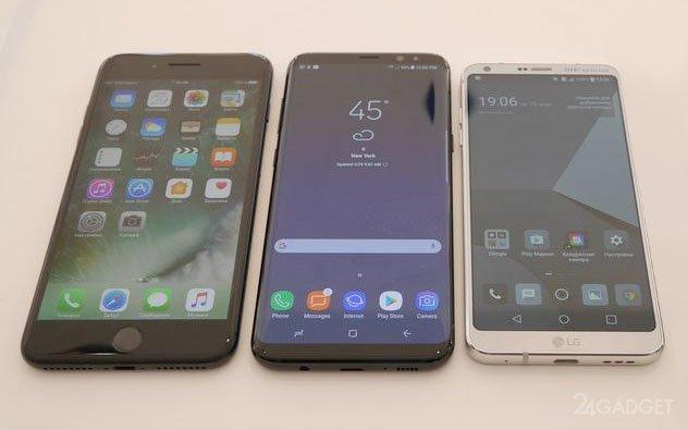 Сравнение камер Samsung Galaxy S8, LG G6 и iPhone 7 Plus (6 фото)