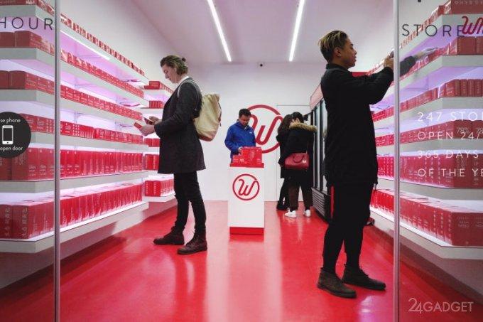 В Шанхае заработал первый магазин без продавцов и касс (4 фото + видео)