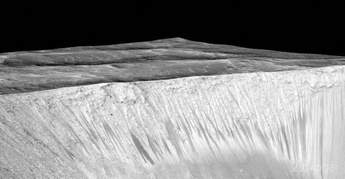Выдвинута новая гипотеза происхождения тёмных полос на Марсе (3 фото + видео)