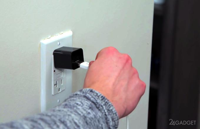 Камера видеонаблюдения, маскирующаяся под зарядку (5 фото + видео)
