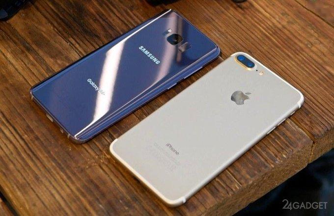 Galaxy S8+ уступил iPhone 7 Plus в автономности (2 фото)