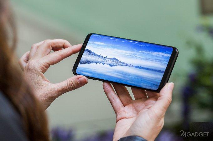 Экран Galaxy S8 признан лучшим в мобильной отрасли (3 фото)