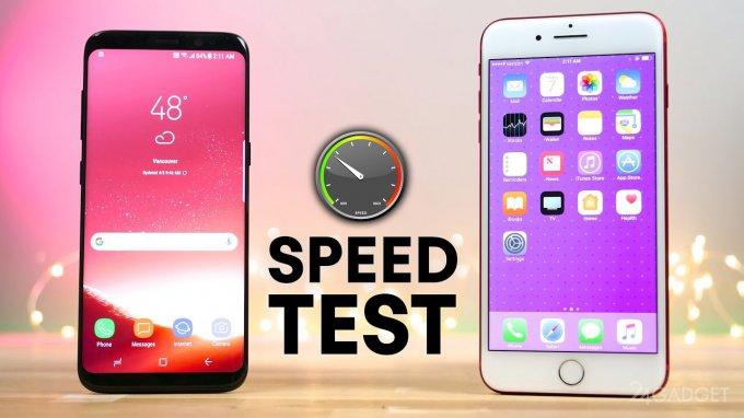 Galaxy S8 сразился с iPhone 7 Plus в тесте на быстродействие (видео)