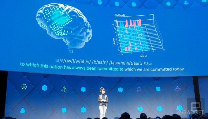 Facebook анонсировала технологию, переводящую мысли в печатный текст, и 360-градусные камеры (4 фото + видео)