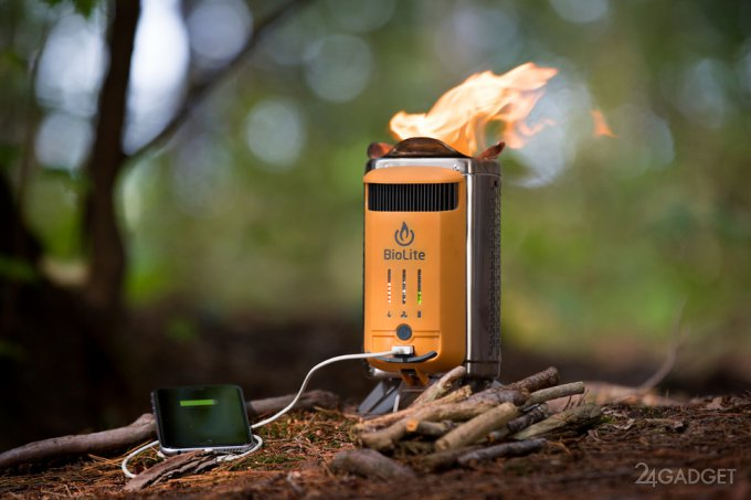 Походная дровяная печь CampStove 2 заряжает гаджеты (9 фото + видео)