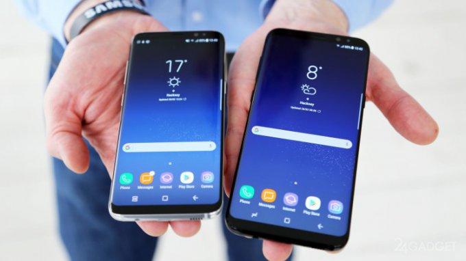 Названы первые недочёты флагманов Galaxy S8 и S8+ (5 фото + видео)