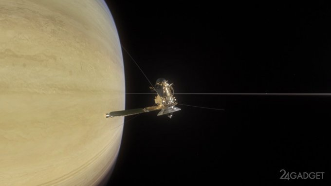 «Кассини» маневрирует между Сатурном и его кольцами (видео)