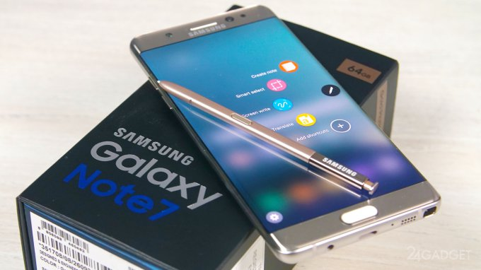 Возобновление продаж Galaxy Note 7 ожидается этим летом