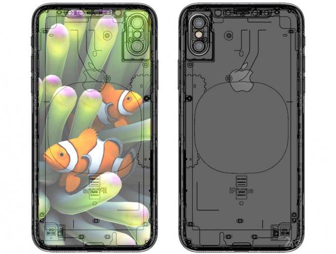 Обнародован эскиз внутреннего строения iPhone 8 (5 фото)