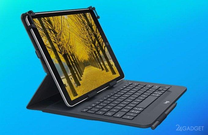 Logitech Universal Folio — универсальный чехол-клавиатура для планшетов (4 фото + видео)