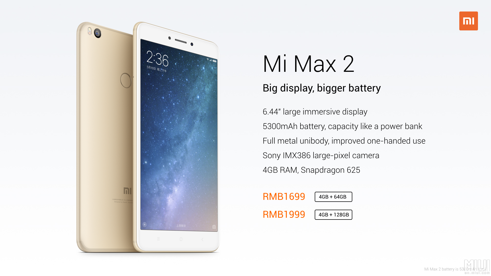 Xiaomi Mi 2 Max — phablet with a battery of 5300 mAh (16 ...