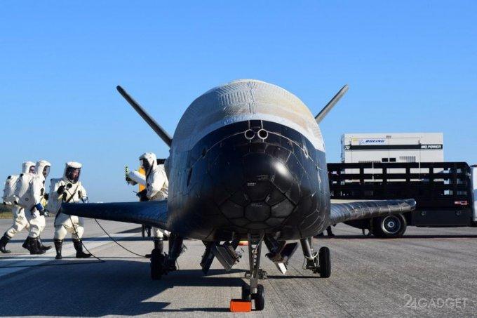 Американский космоплан побил орбитальный рекорд (2 фото + видео)