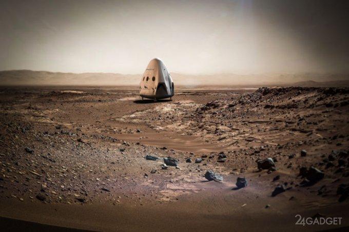 В 2020 году SpaceX отправит два корабля к Марсу