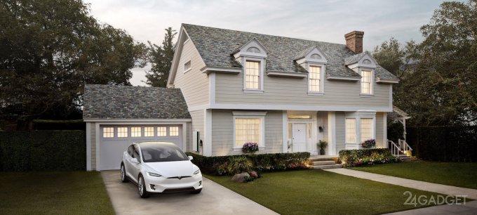 Tesla принимает предзаказы на солнечные панели для крыш (5 фото)