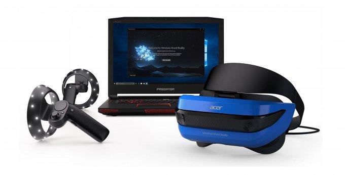 Представлены шлемы смешанной реальности от Acer и HP и контроллеры Microsoft (6 фото + видео)