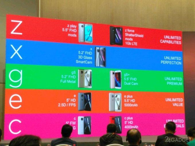 Все будущие смартфоны Moto 2017 года засветились на одном фото