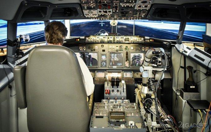 Робот ALIAS стал вторым пилотом в Boeing-737 (видео)