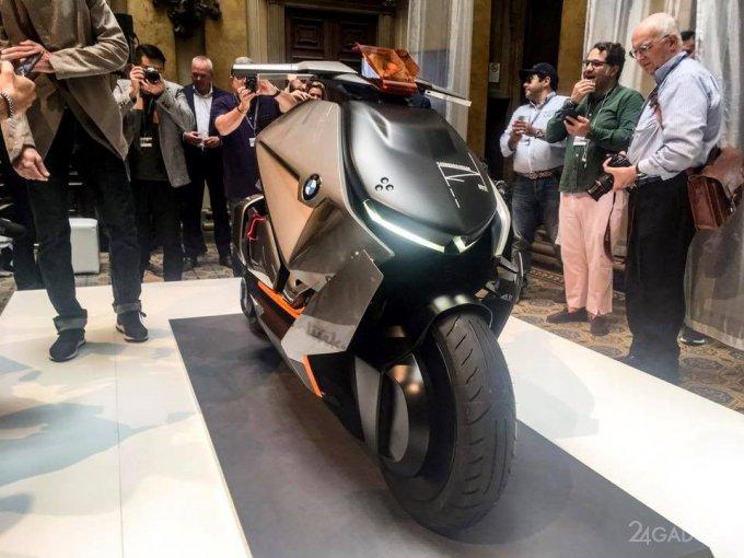 Электроскутер будущего от BMW (18 фото + 2 видео)
