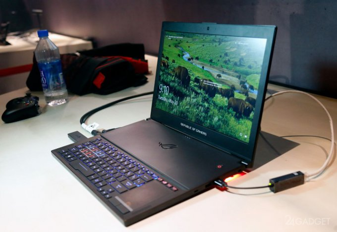 Asus и NVIDIA порадуют игроманов тонким геймерским ноутбуком (18 фото + 2 видео)