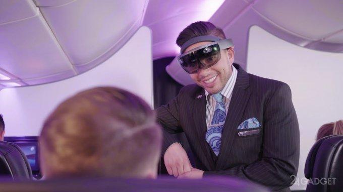 В очках HoloLens бортпроводники лучше узнают пассажиров (3 фото + видео)