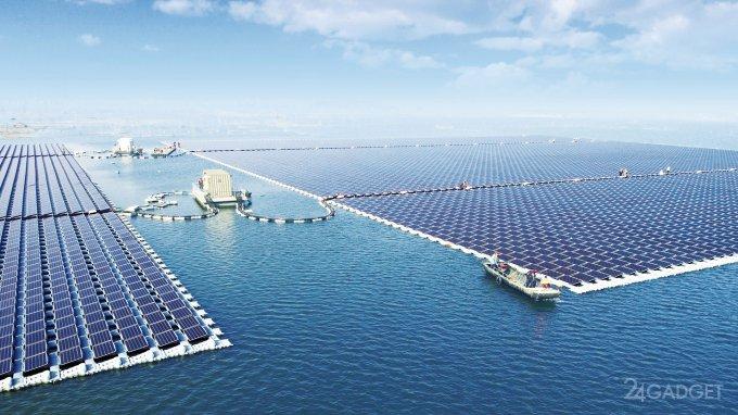 Заработала самая мощная плавучая солнечная электростанция в мире