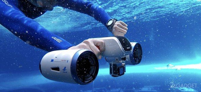 Миниатюрный подводный скутер WhiteShark MIX (6 фото + видео)