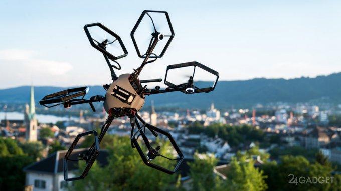 Мобильный дрон Voliro с 12 степенями свободы
