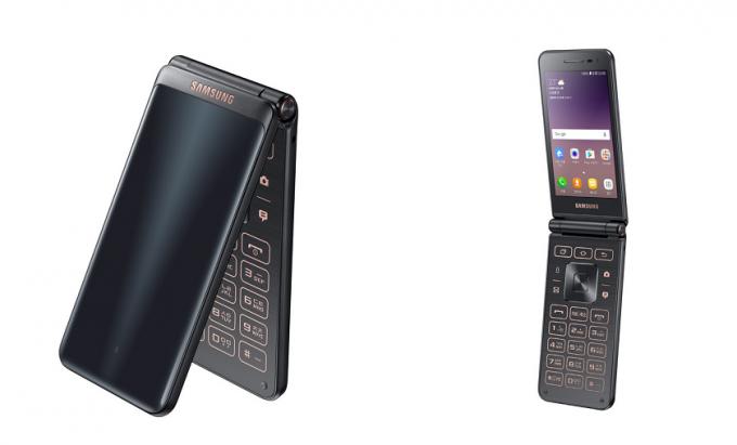 Samsung представил смартфон-раскладушку на базе Android