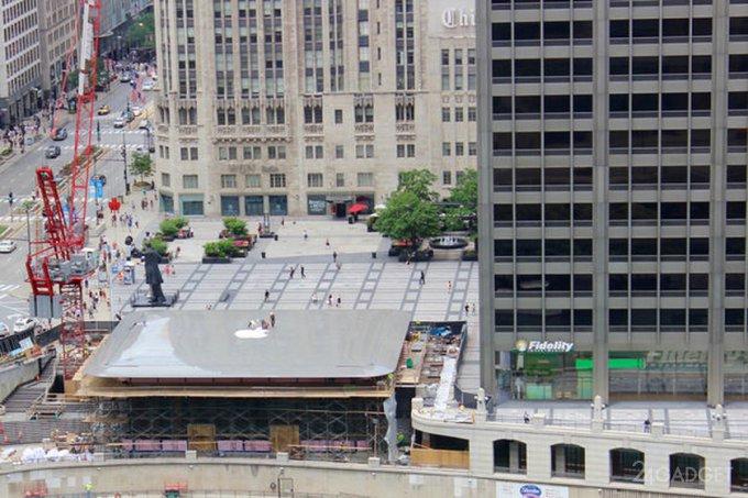 Новый магазин Apple Store в Чикаго очень похож на Макбук (2 фото + видео)