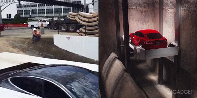 Илон Маск испытал лифт для скоростного подземного тоннеля (видео)