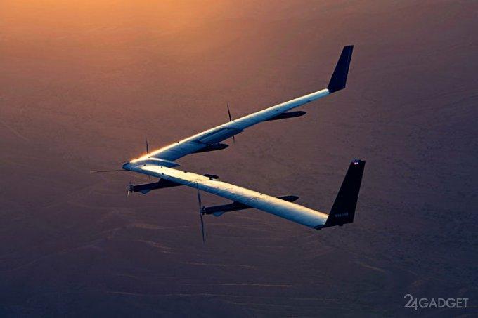 Дрон-провайдер от Facebook прошёл лётные испытания (3 фото + видео)