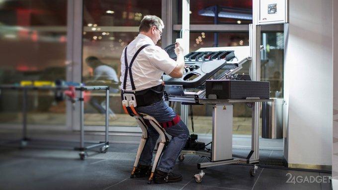 Экзоскелет-стул для эффективной работы (9 фото)